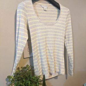 ❤️2/$50❤️ Club Monaco cozy long sleeve striped top